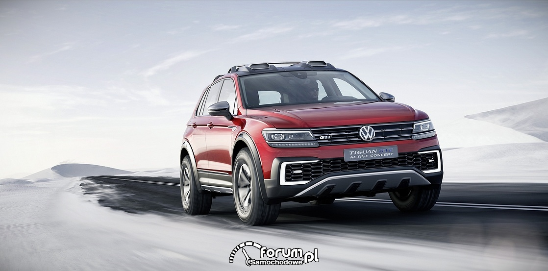 Volkswagen Tiguan GTE Active Concept, przód