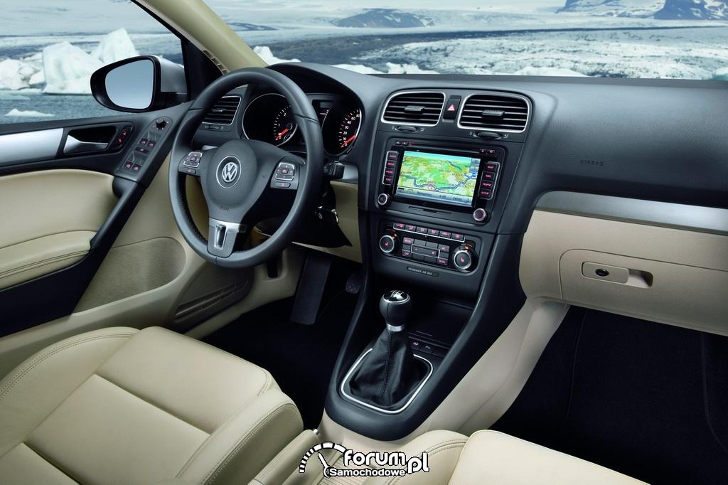 VW Golf VI - wnętrze, deska
