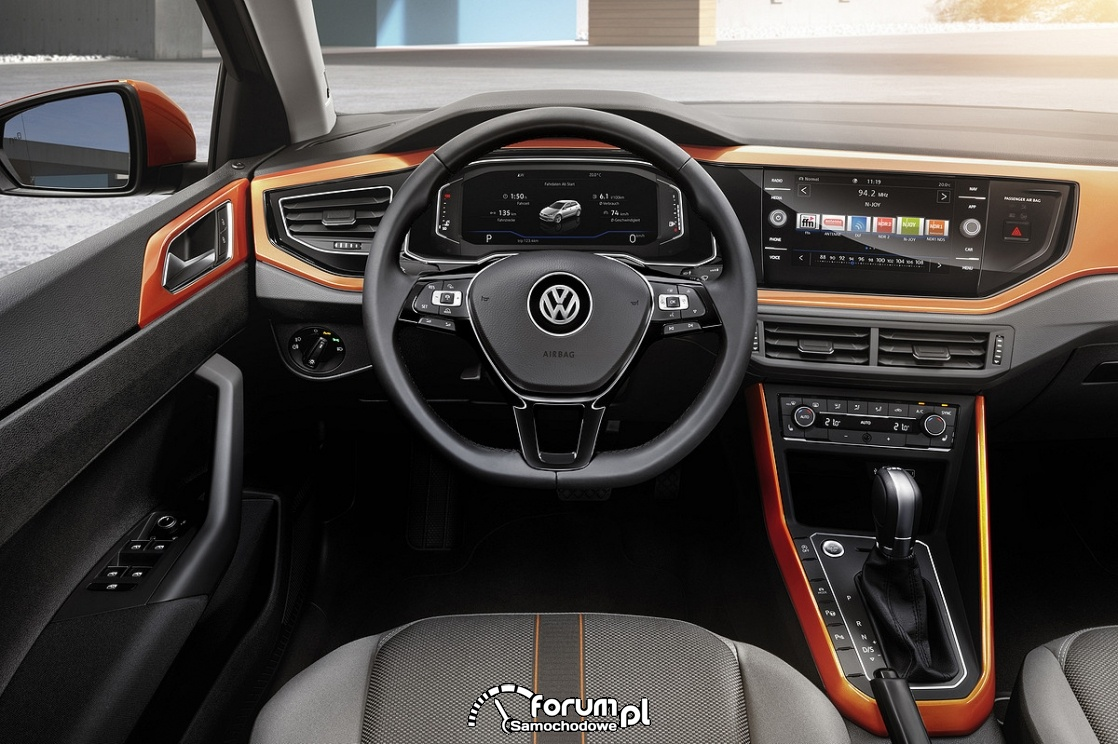 VW Polo 2018, wnętrze