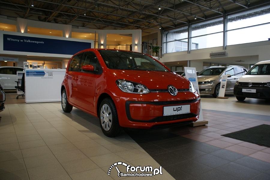 VW UP, salon samochodowy