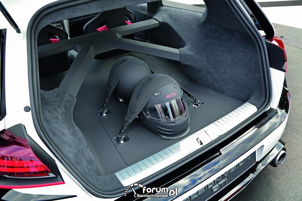 Wizjonerski Golf GTI - Design Vision GTI, bagażnik