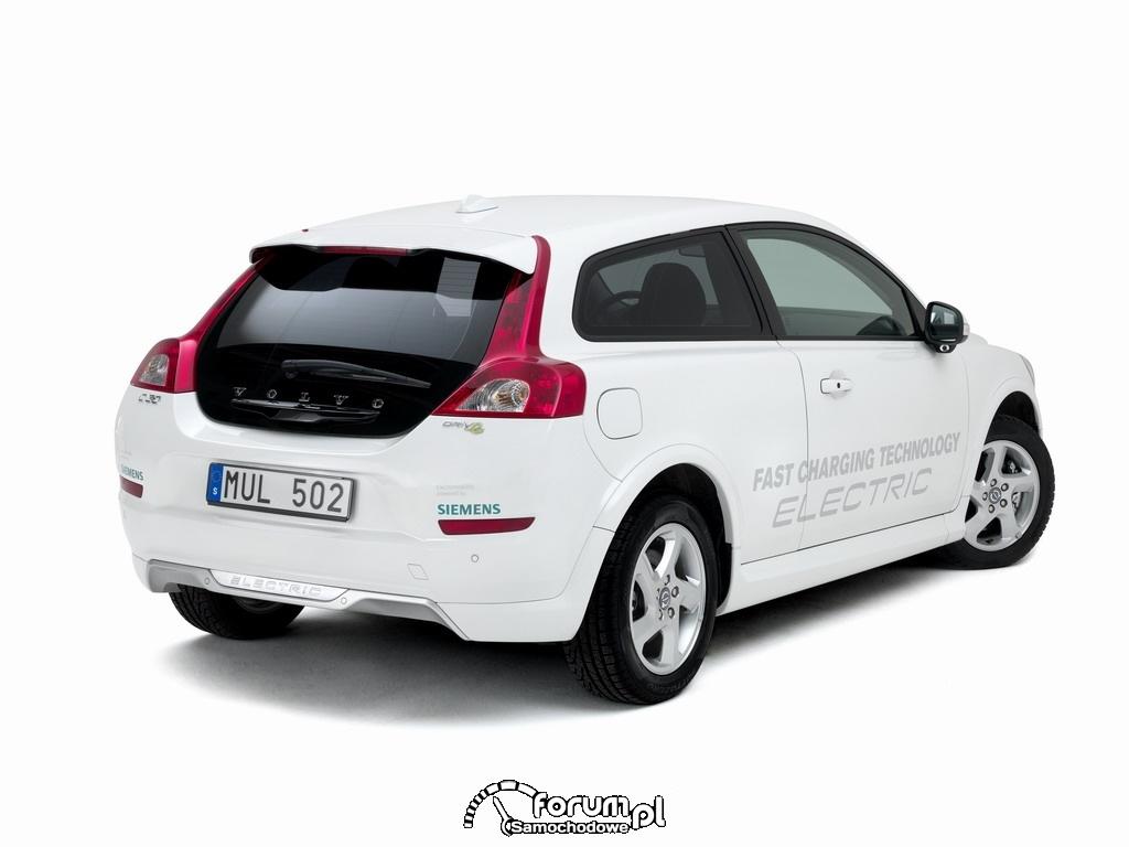 Volvo C30 Drive, tył, samochód elektryczny