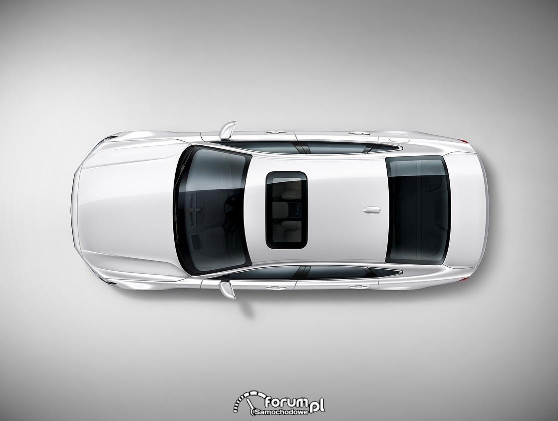 Volvo S90, widok z góry