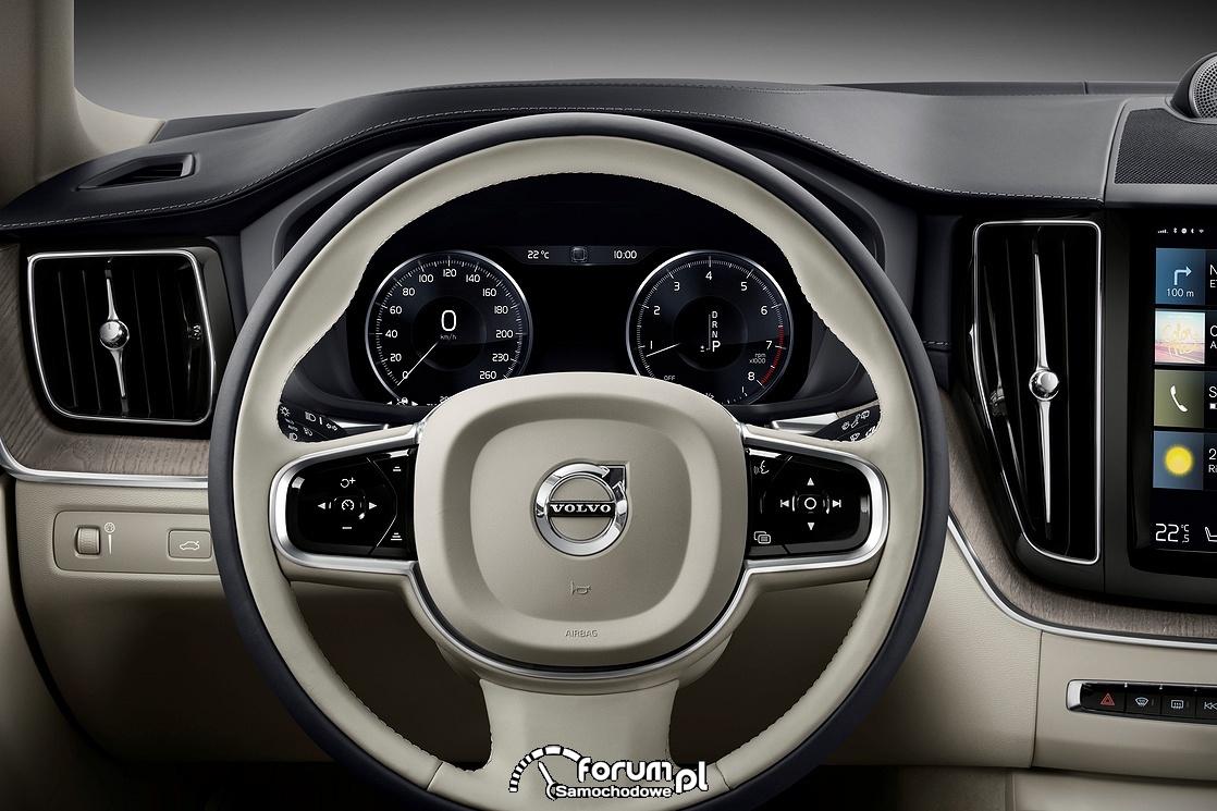 Volvo XC60, kierownica i licznik