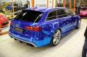 Audi RS6, niebieska folia