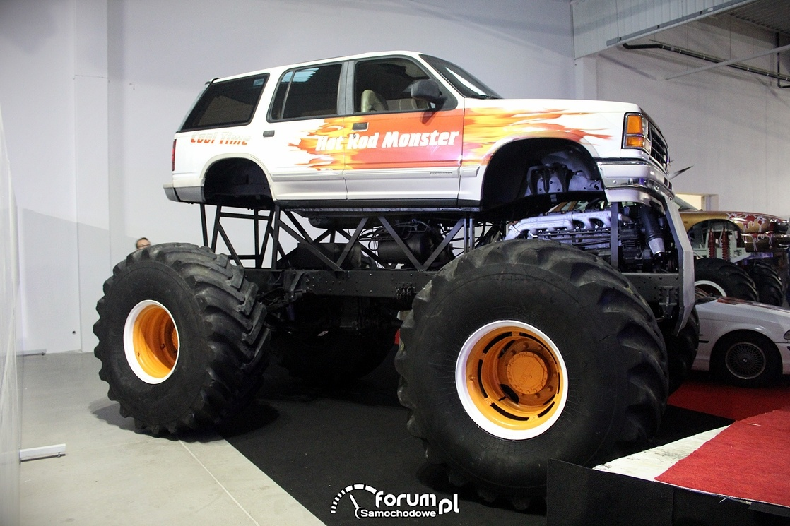 Hot Red Monster Truck