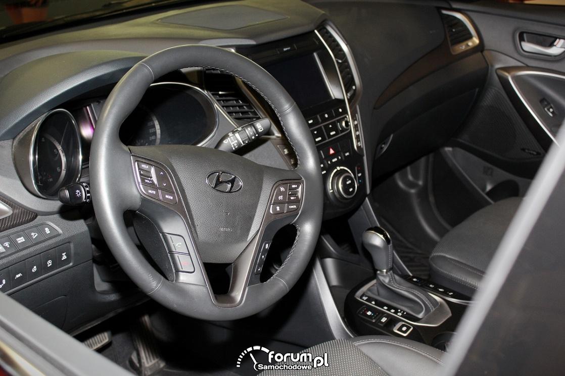 Hyundai SantaFe, wnętrze, kierownica