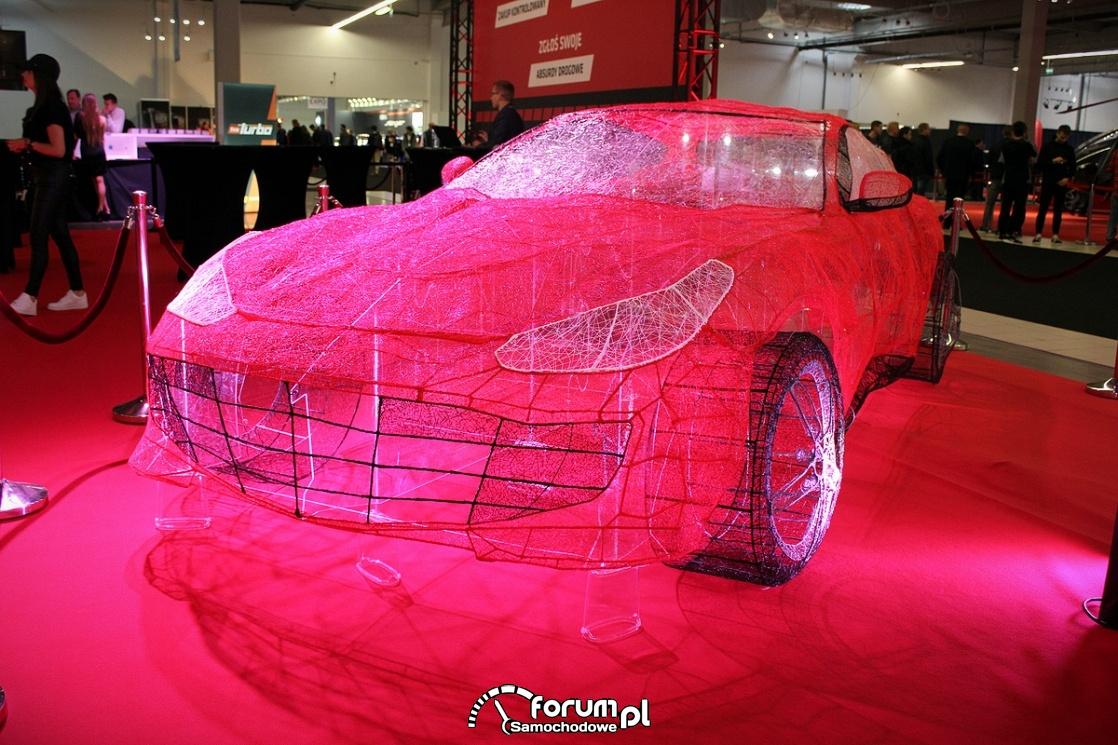 Samochód jak sieć pająka