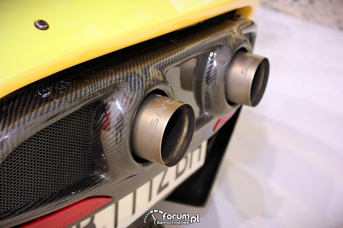 Sin Cars, Sin R1 550, wydech