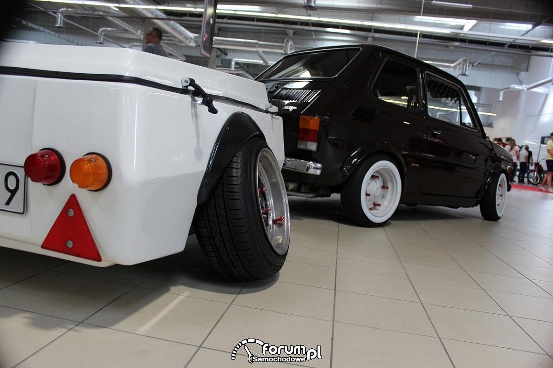 Fiat 126p z przyczepką , tuning