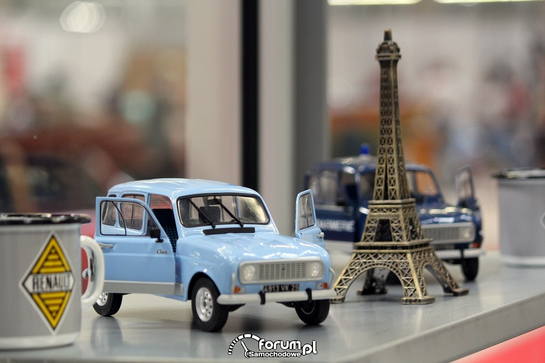 Miniatury samochodów, wieża Eiffla