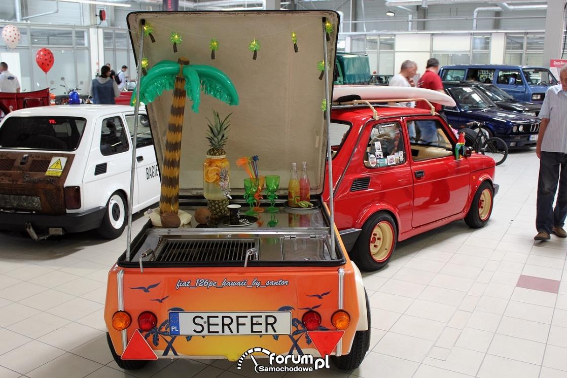 Przyczepka do  Fiat 126p, hawaii by santor