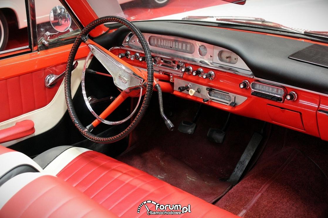 Ford Galaxie Sunliner, 1960 rok, wnętrze