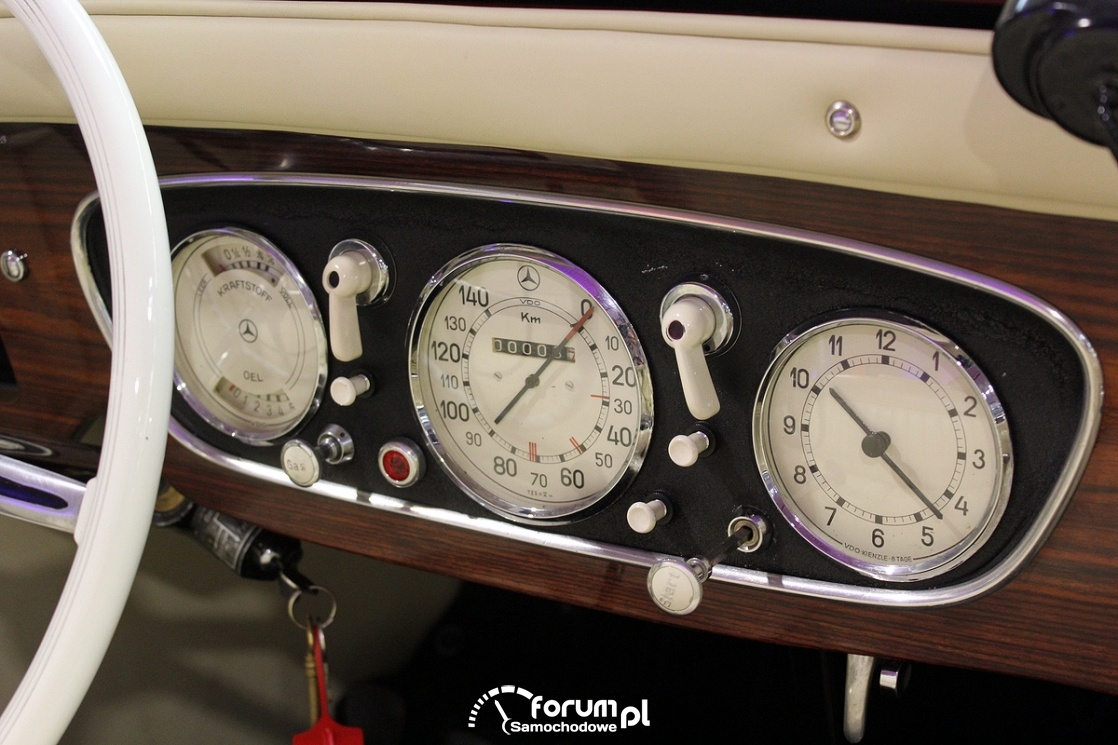 Mercedes-Benz, licznik, deska rozdzielcza, Old Car