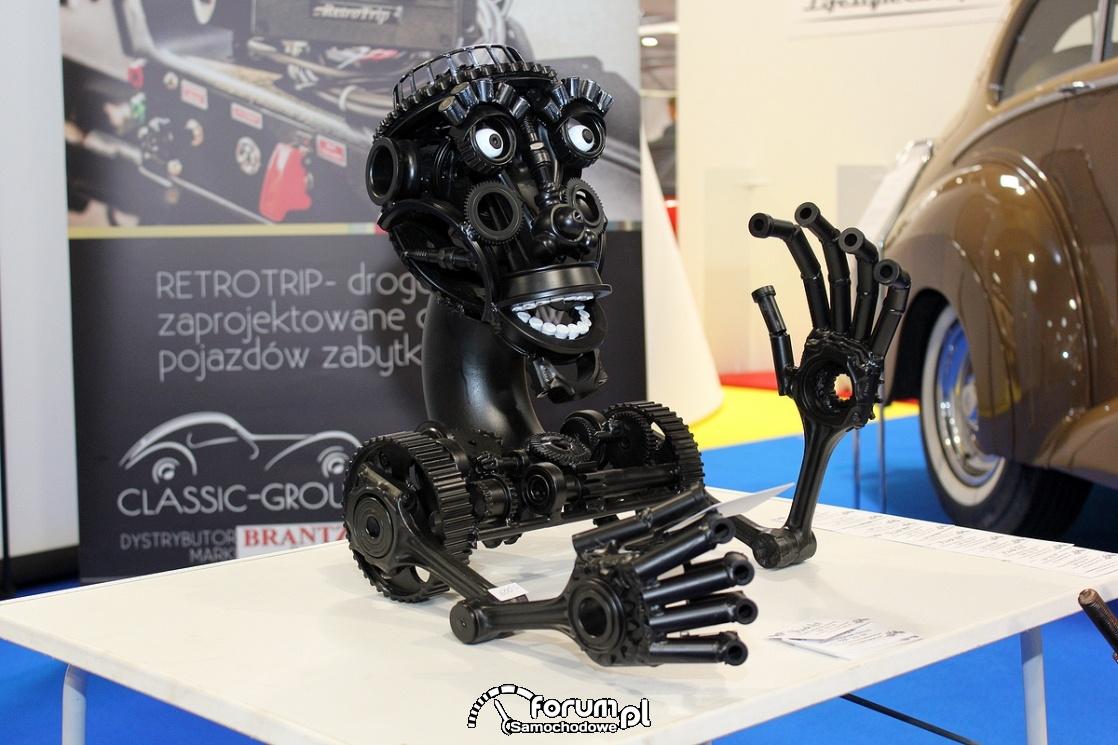 Metalowa głowa Szympansa