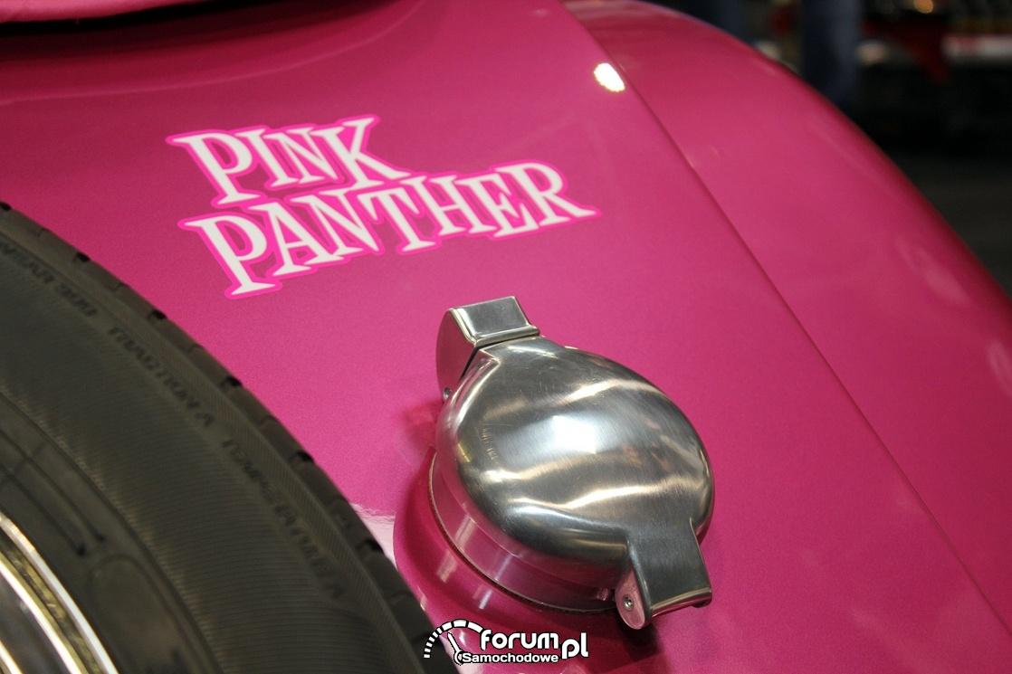 Pink Panther, chromowany wlew paliwa, Morgan Plus 4