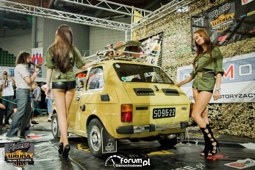 Fiat 126P - tuning, dziewczyny