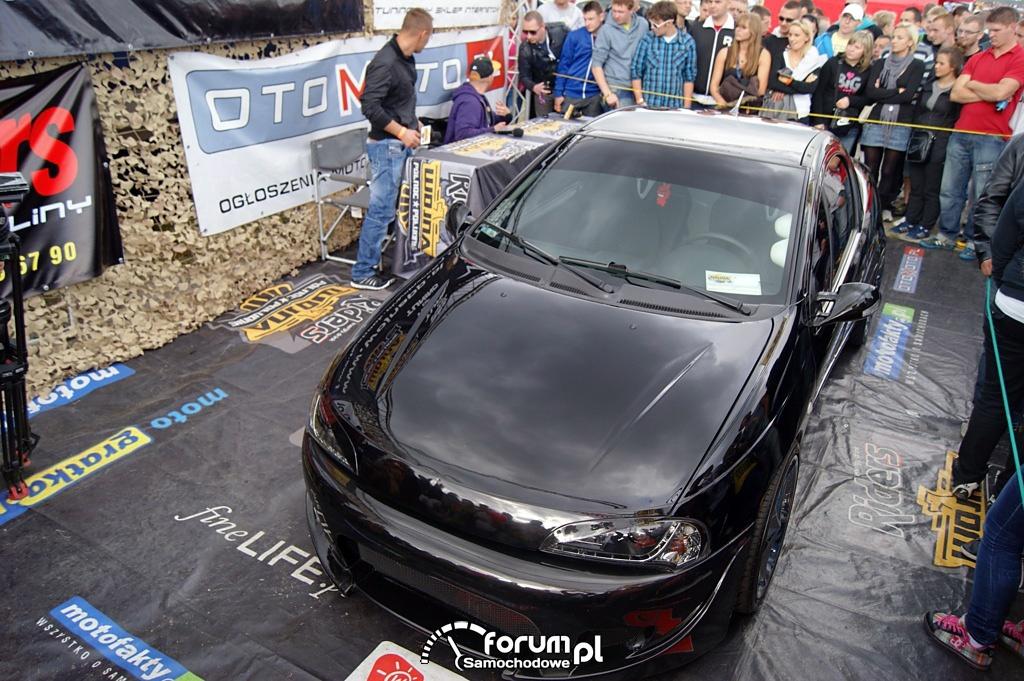 Opel Tigra, czarna, widok z góry