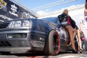VW Golf III, alufelgi,  dziewczyny