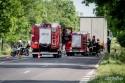 Wypadek motocyklisty w Lubartowie