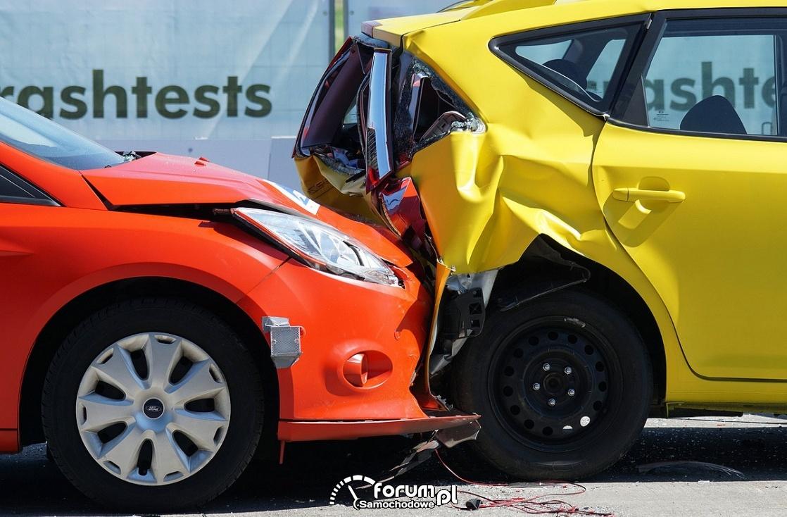 Kolizja drogowa, crash test