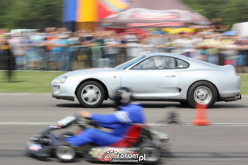 Toyota Supra vs Gokart