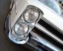 Pontiac, old car, przednia lampa