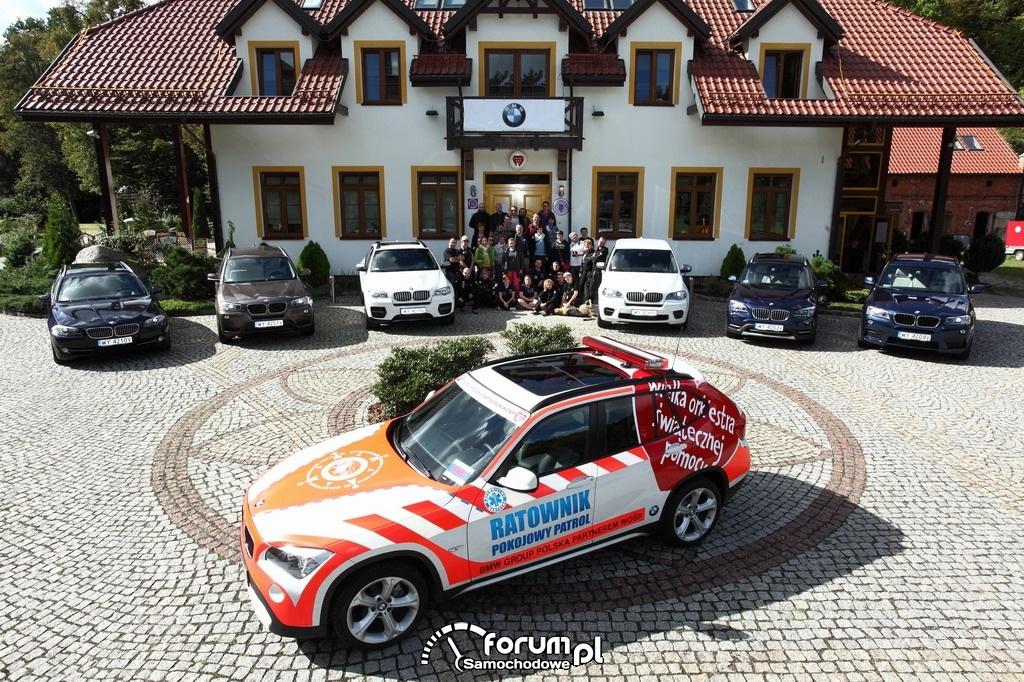 BMW X1, samochód ratowniczy instruktorów Pokojowego Patrolu WOŚP