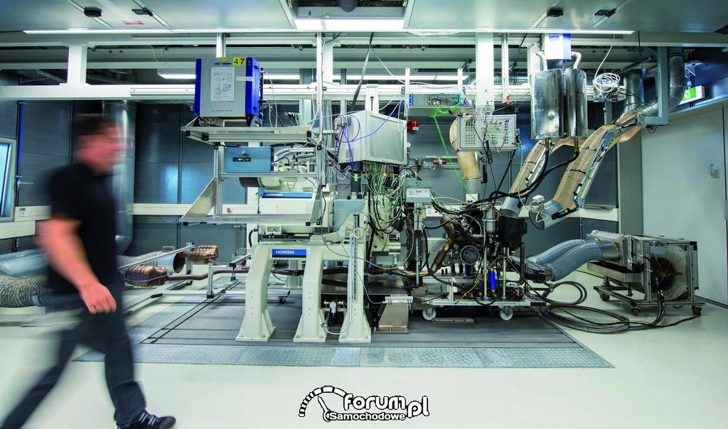 Centrum Testowania Silników Audi w Neckarsulm, silnik podczas testów