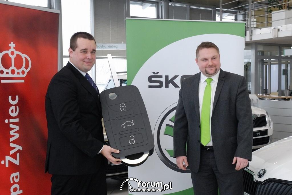 Flota Grupy Żywiec - przekazanie kluczyków do samochodów Skoda Rapid