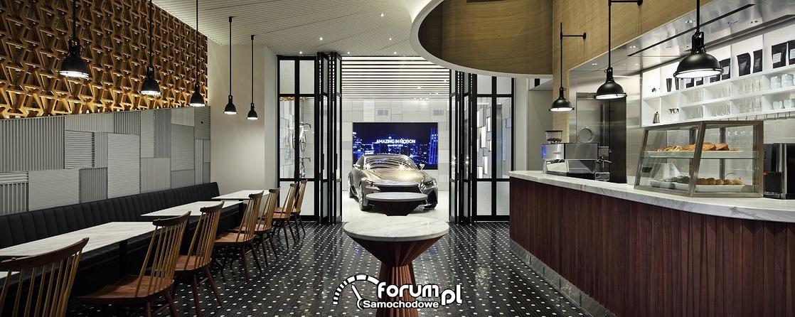 Klub Lexusa INTERSECT w Tokio, wnętrze