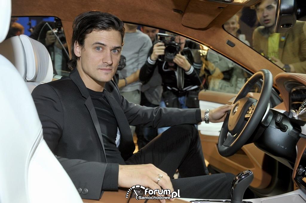 Mateusz Damięcki i nowe BMW 650i Gran Coupe
