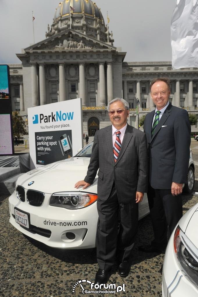 Mayor Ed Lee i Dr. Ian Robertson na konferencji ParkNow