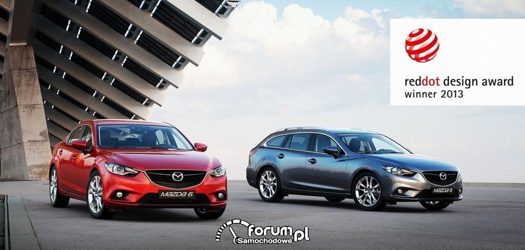 Mazda6 zdobywa prestiżową nagrodę - Red Dot Design