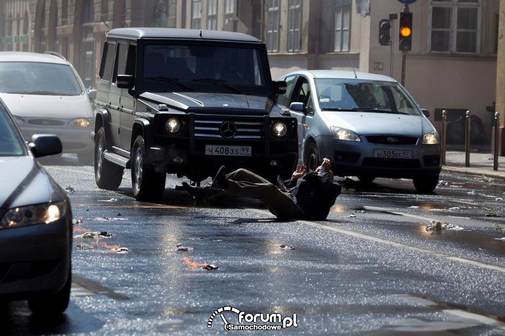Mercedes Klasa G, Szklana pułapka 5, wypadek