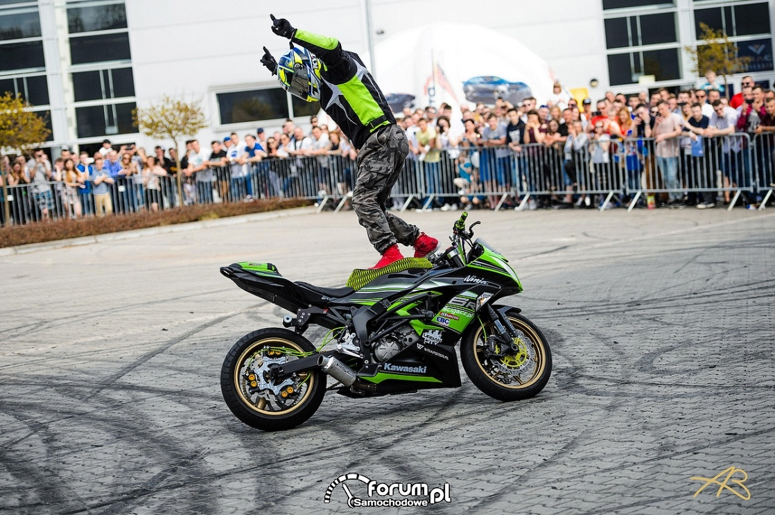Moto Session w Lublinie, stunt motocyklowy