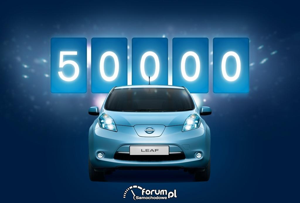 Nissan LEAF 50 000 sprzedanych egzemplarzy