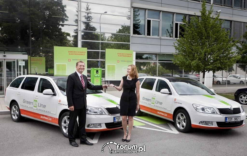 Przekazanie kluczyków firmie CEZ, Skoda Octavia Green E Line