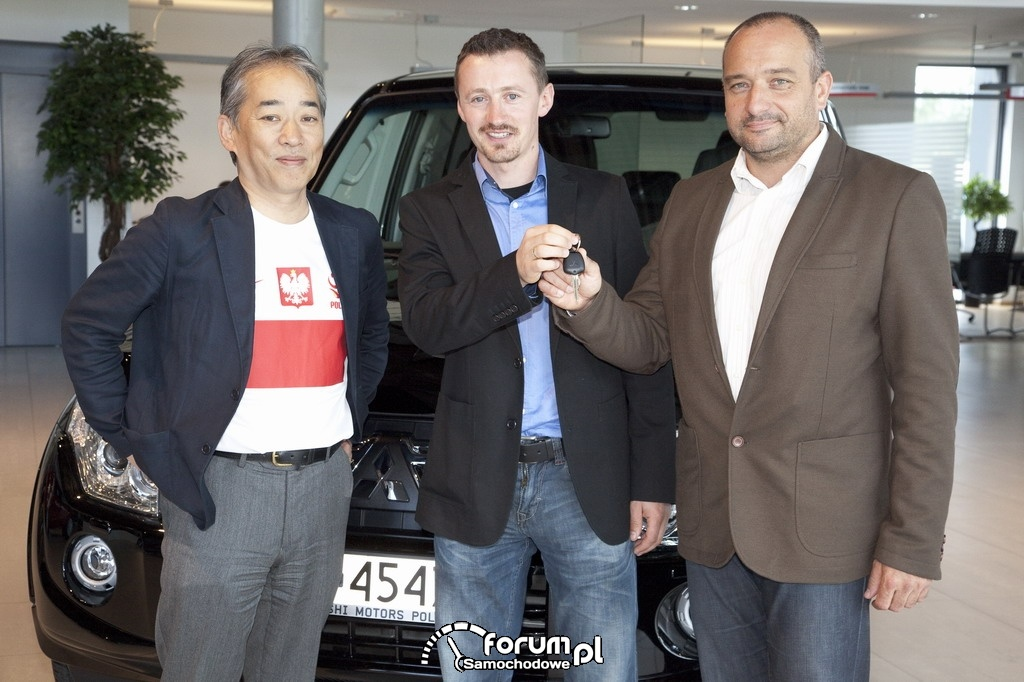 Przekazanie Mitsubishi dla zespołu rajdowego Adam Małysz - Rafał Marton
