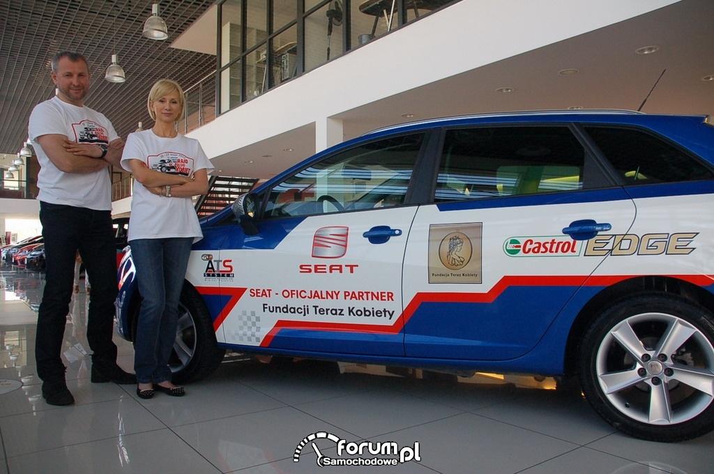 Rajd Kobiet - Ewa Gawryluk Jarek Kazberuk i SEAT