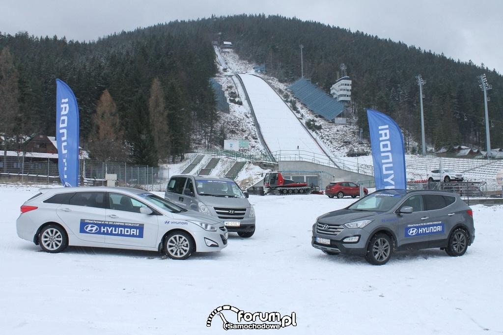 Samochody Hyundai na potrzeby Pucharu Świata w skokach narciarskich