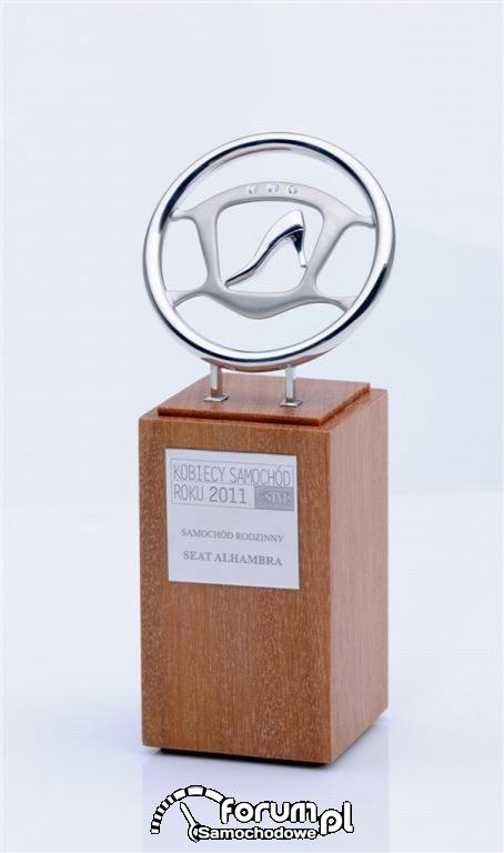 SEAT Alhambra - Auto Rodzinne - Kobiece Auto Roku 2011 - statuetka