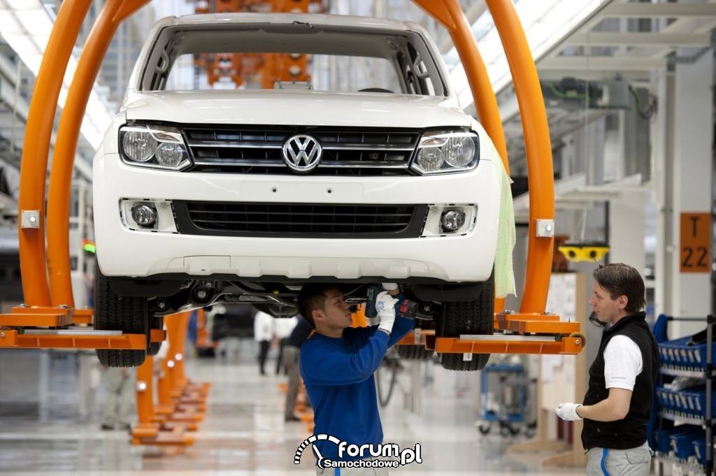 Volkswagen Amarok, linia montażowa - produkcja  Hannover 2012