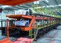 Zielony Pociąg Audi, załadunek nowych samochodów na wagony